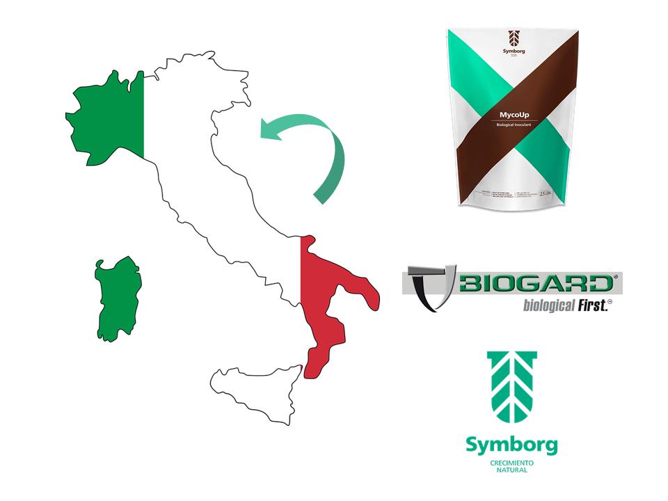 Biogard, Symborg y MycoUp in Italy