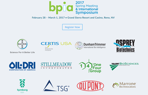 Symborg will sponsor the Biopesticide Industry Alliance Spring Meeting